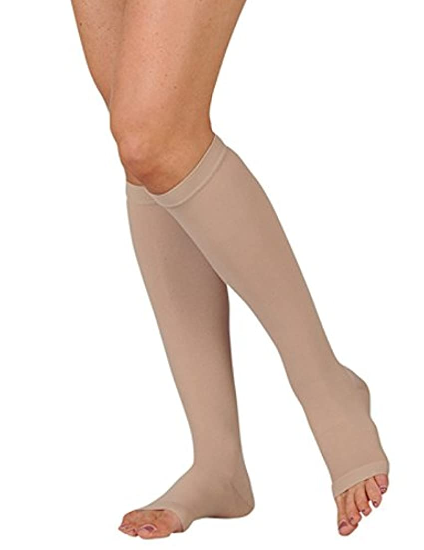 散逸要求する信じられないJuzo Basic Knee High Short Open Toe 20-30mmHg, III, beige by Juzo