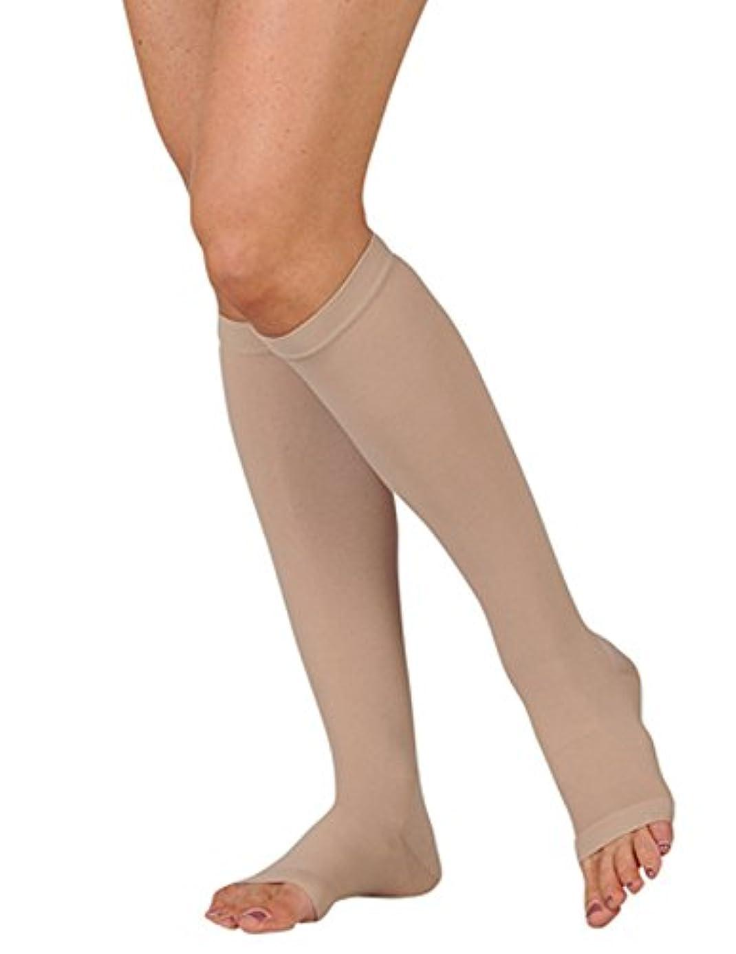 フレアつかむ横にJuzo Basic Knee High Short Open Toe 30-40mmHg, IV, beige by Juzo