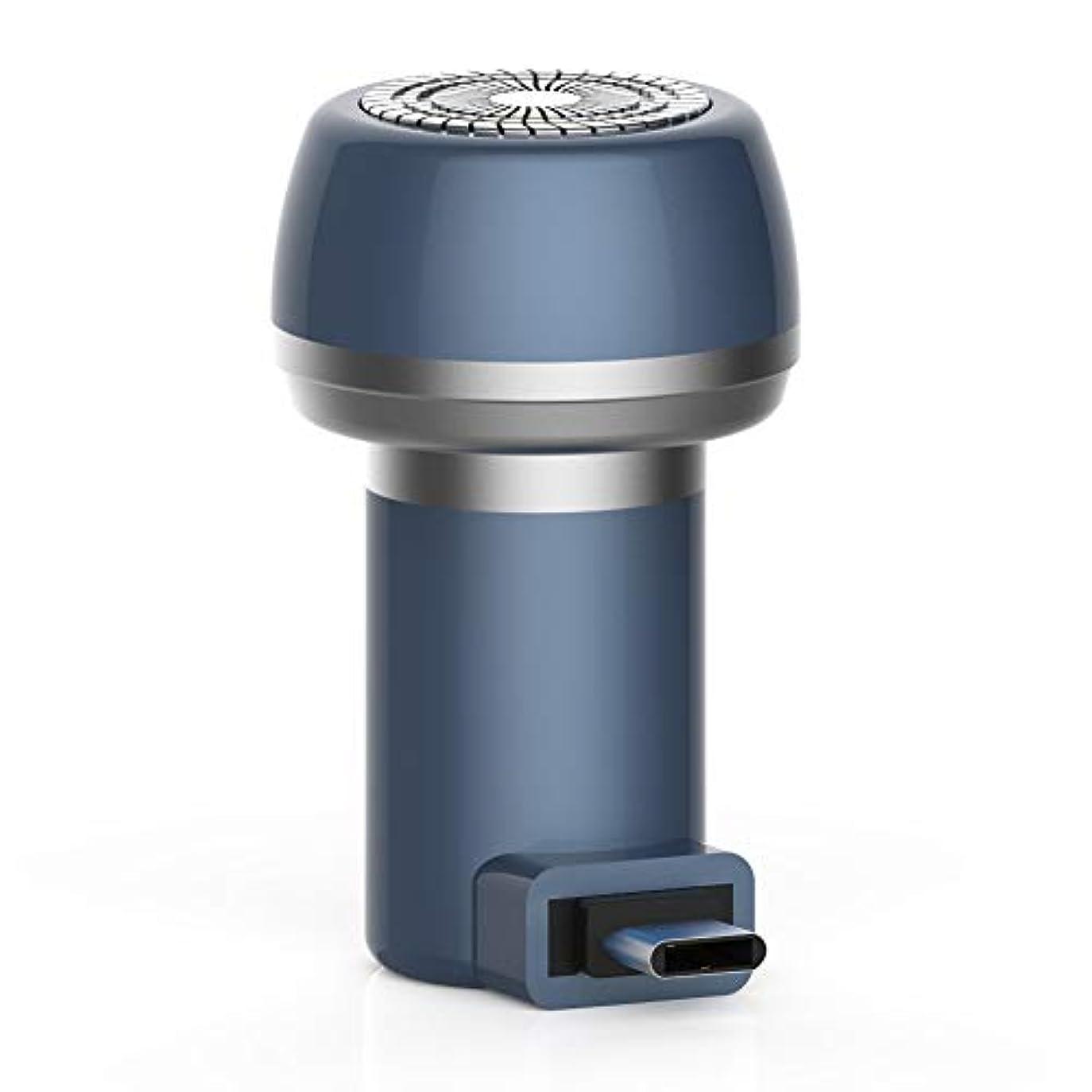 勤勉野菜巡礼者Tenflyer  電気充電式シェーバー、2に付き2磁気電気シェーバーミニポータブルType-C USB防水耐久性剃刀