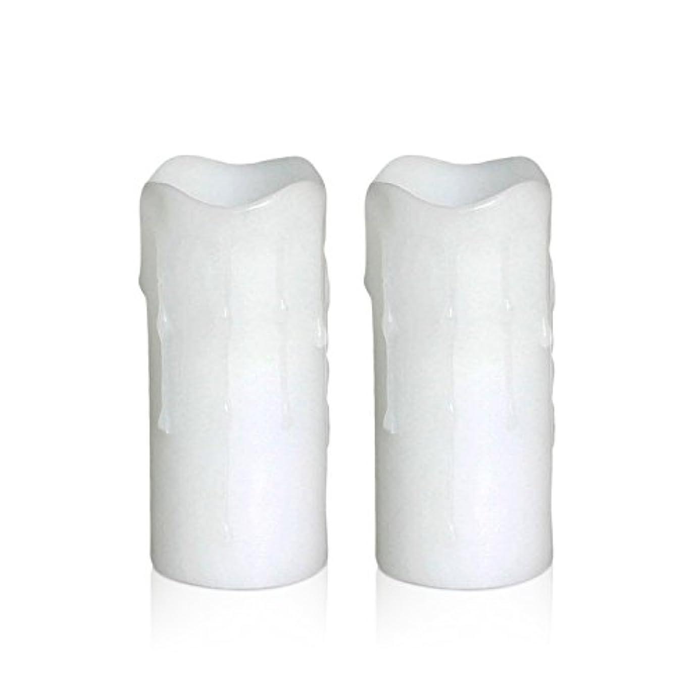 極小疾患現代の電池式(2aa) Dripping Flameless LED Votive Candles (Pack of 2 ) 1.75 * 4