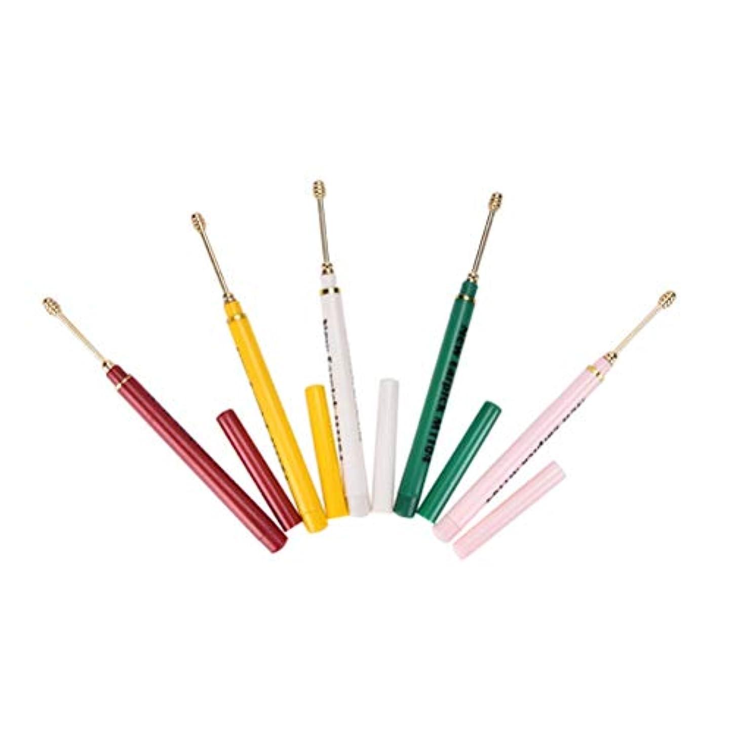 しおれた受け入れたラオス人ZHQI-GH ランダムカラー2ピースイヤホンスプーンツールクリーン耳ワックスキュレットリムーバーヘルスケアカラフルなギフト (色 : Multi-colored)
