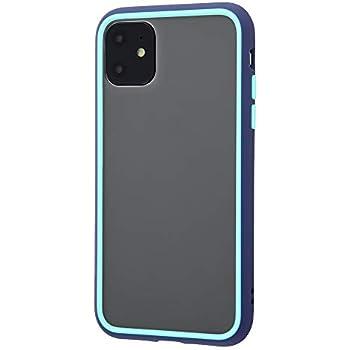 デジタルアルキミスト iPhone 11 ケース 耐衝撃 Silky touch 指紋防止 衝撃吸収 エアクッション 指紋付きにくい さらさら ストラップ ホール ハイブリッド 素材 QI充電 ワイヤレス充電 対応 ブルー/ライトブルー DT-P21SLK1/A