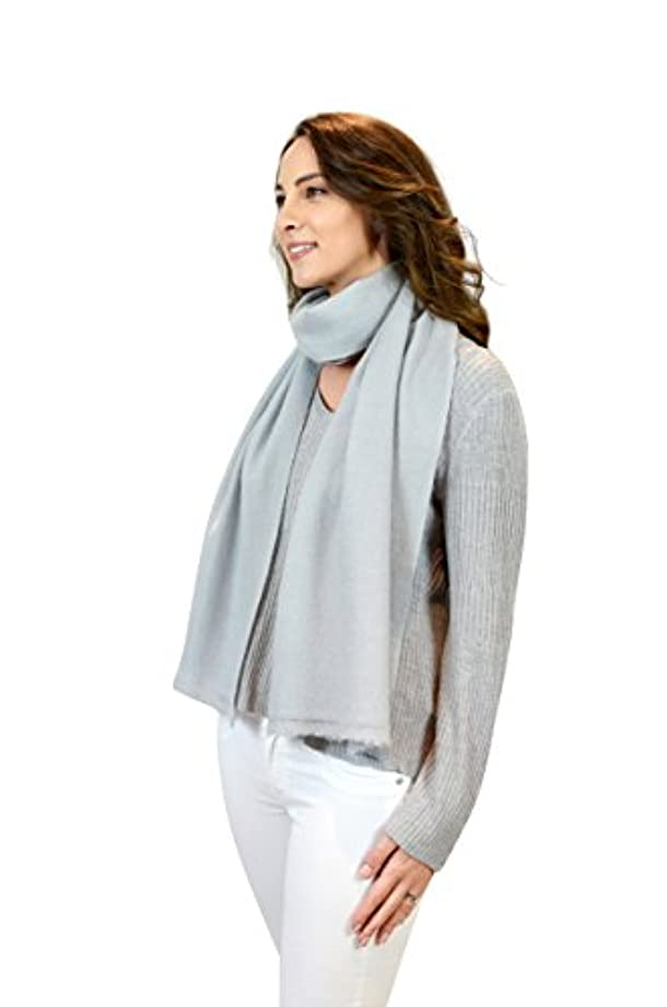 慈悲群集中止します灰色の大きい100%カシミヤ織りのユニセックススカーフ