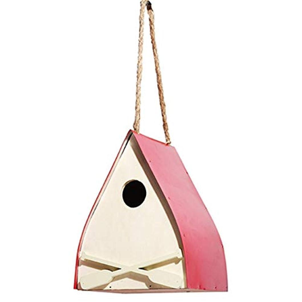 交じる新着オーチャード野鳥用巣箱 レトロな手工芸品カントリーハウスバードフィーダーハウス屋外の木製の巣箱小屋鳥小屋 太陽や雨から保護します (色 : 赤, Size : Free size)