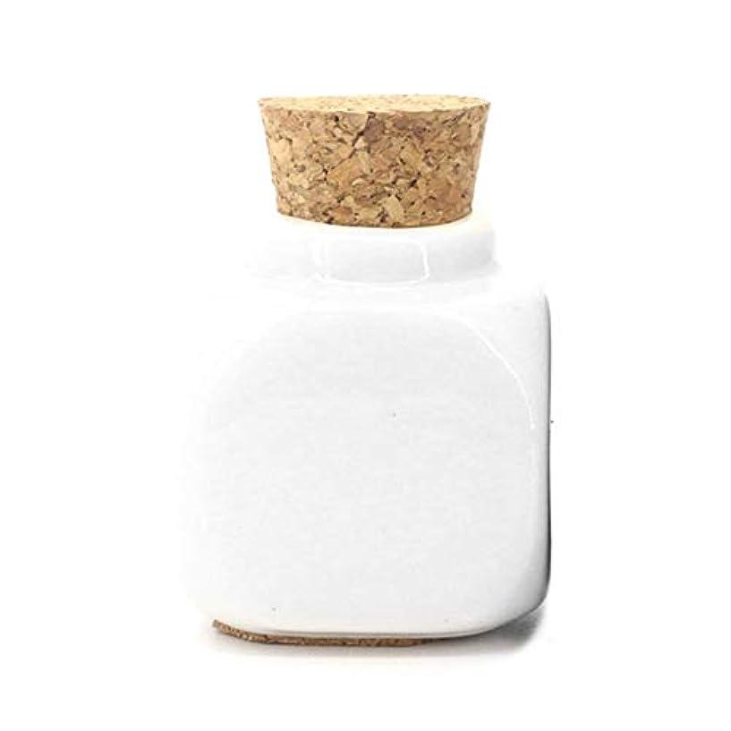つぶやき腹痛偶然1ピースセラミックガラス液体ガラス粉末Dappen皿クリスタルガラスカップ用アクリルネイルアートアクセサリー - ホワイト