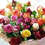 ばらの収穫祭 とってもカラフルなバラのブーケ【生花】【お祝い】記念日】【誕生日】【フラワーギフト】【バラ】