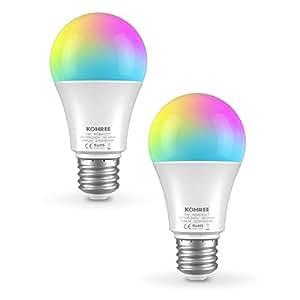Kohree スマートLED 電球 E26 wifi操作 調光調色 タイマー機能 音声コントロール 省エネ照明 Echo/Google Home対応 3年保証 (60W光度相当) (2)