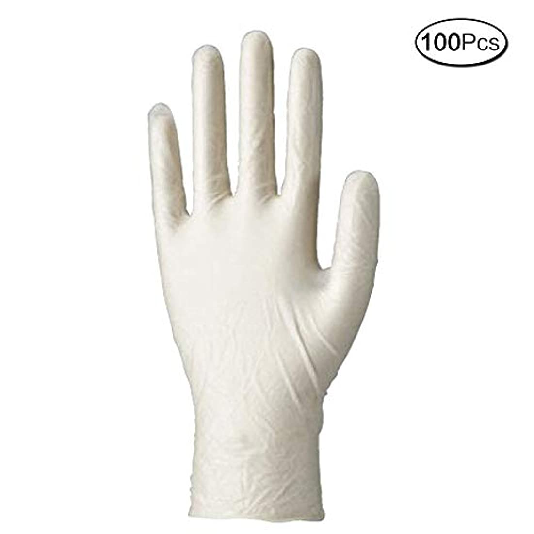 マーチャンダイジング音楽どこでも使い捨て手袋 マイスコPVCグローブ 粉なし (サイズ:M)100枚入り 病院採用商品