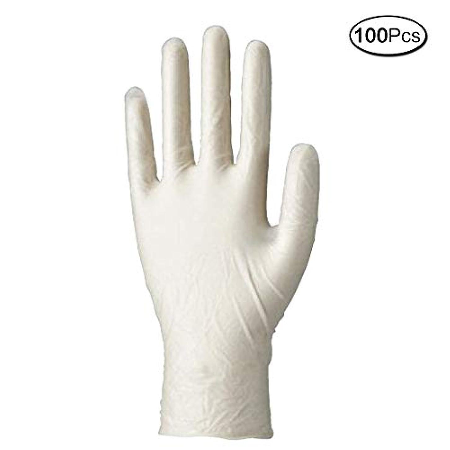 メンダシティラベ検査使い捨て手袋 マイスコPVCグローブ 粉なし (サイズ:M)100枚入り 病院採用商品