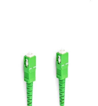 WOLON COMM SC/APC-SC/APC 光ファイバー パッチコード ケーブル シングルモード イエロー 1芯 直径3mm 9/125μm