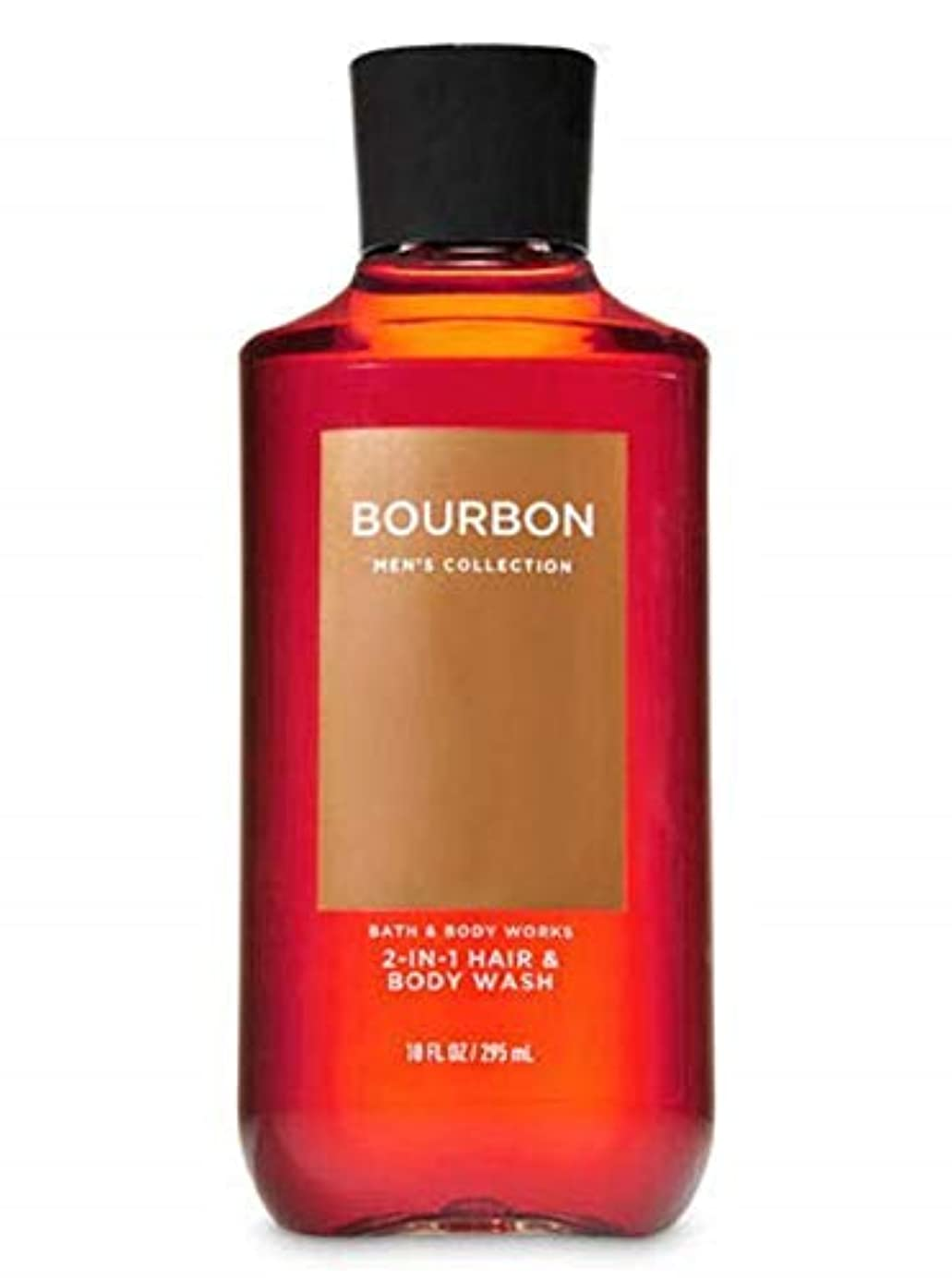 船尾使役ブラスト【並行輸入品】Bath & Body Works Bourbon 2-in-1 Hair + Body Wash 295 mL