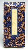 京仏壇はやし 仏具 過去帳 金襴 3,5寸 日付入り (紺) ◆縦 10,5cm 横 5,2cm 厚み 2,5cm