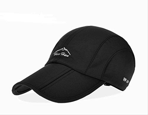 (セドン) Cedon 折り畳み 帽子 キャップ アウトドア 登山 釣り スポーツ 通気性 防水 男女兼用 メンズ レディース (ブラック)