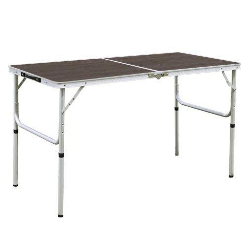 アウトドア 折りたたみ テーブル 120×60cm モダンブラウン AL2FT-120