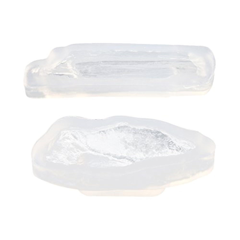 Prettyia 2個入り DIYモールド 樹脂工芸 ジュエリー金型 手芸ツール クラフト 手作り 装飾品 石の形