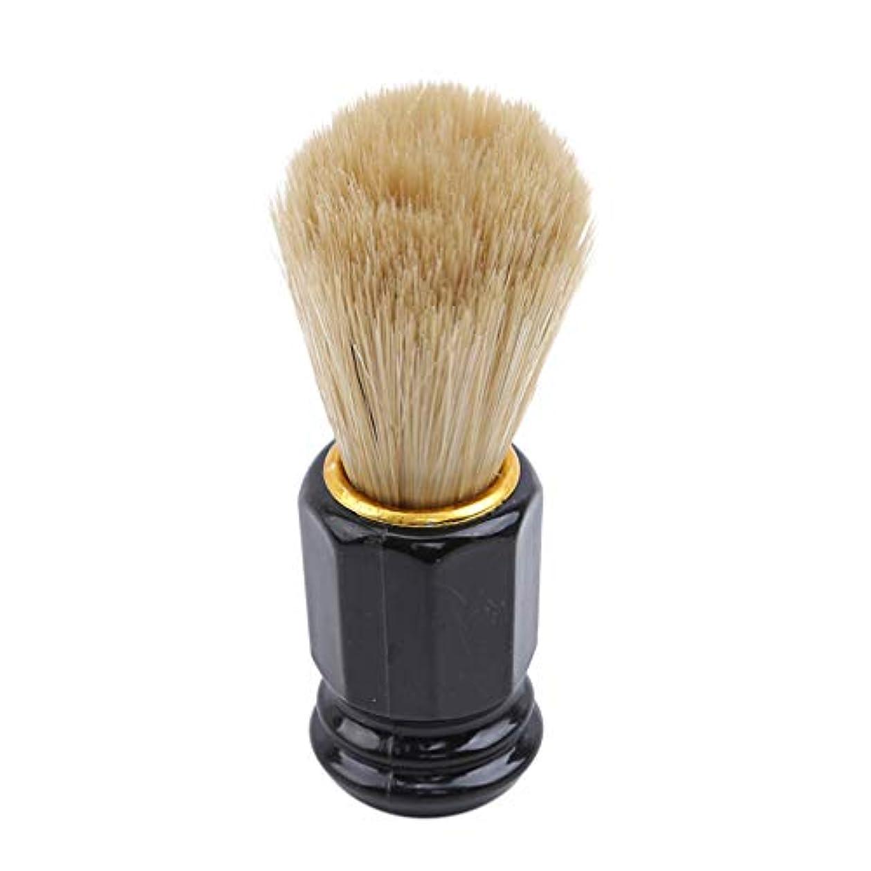 火の色 ひげブラシ シェービングブラシ 美容ツール 理容 洗顔 髭剃り 泡立ち 男性