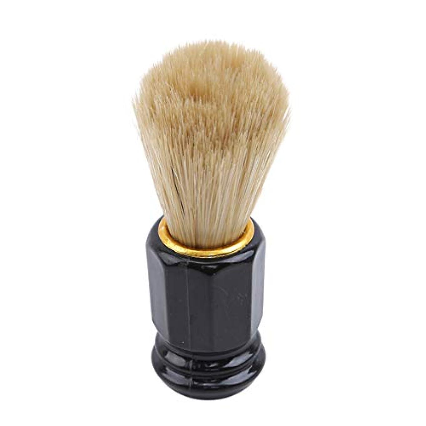 流行している閉塞手術火の色 ひげブラシ シェービングブラシ 美容ツール 理容 洗顔 髭剃り 泡立ち 男性