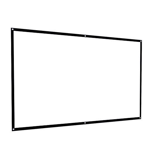 HAGOOGI プロジェクター スクリーン 100インチ 持ち運べる 映画 ホームシアター スクリーン 軽便 シワなし 会議室 家庭用 投影幕 映画 スクリーン