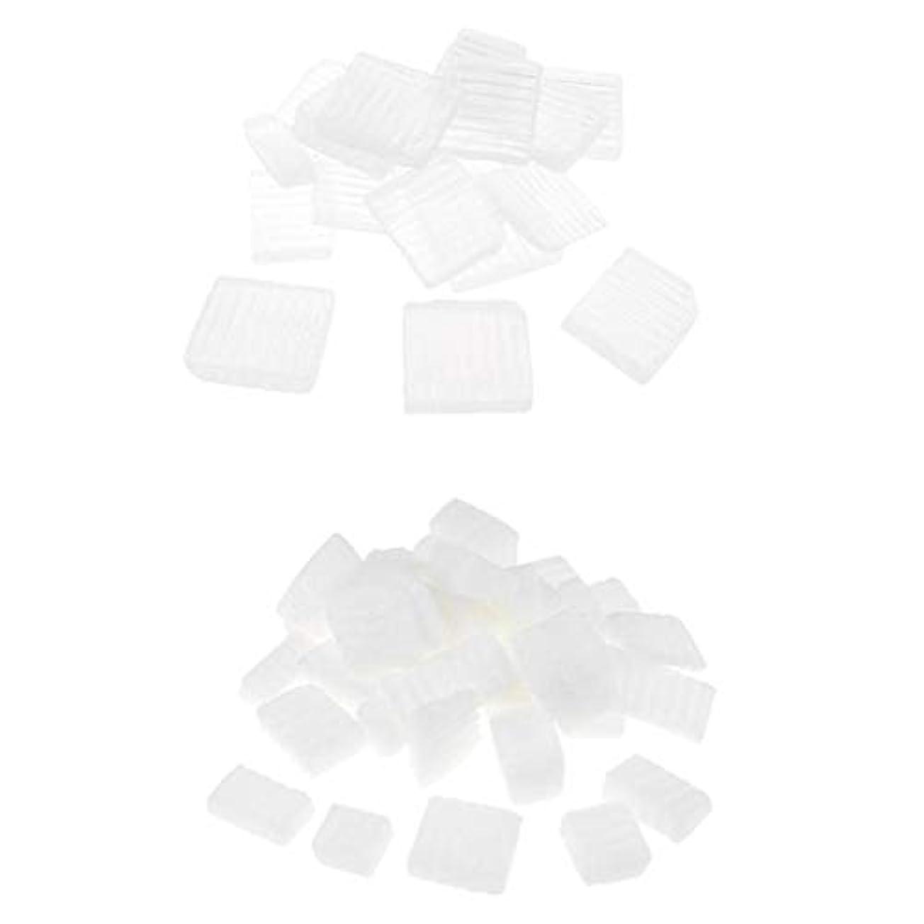 変形する主要な受信Baoblaze 固形せっけん 2KG 2種 ホワイト 透明 DIYハンドメイド ソープ原料 石鹸製造 古典的