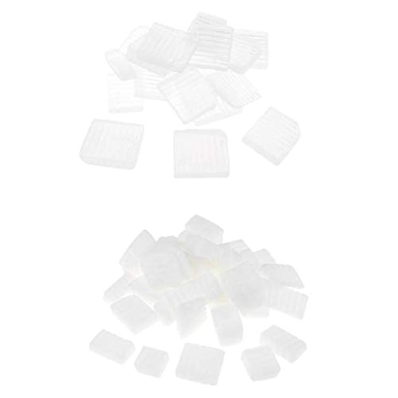 簡潔なストラップ繰り返したBaoblaze 固形せっけん 2KG 2種 ホワイト 透明 DIYハンドメイド ソープ原料 石鹸製造 古典的