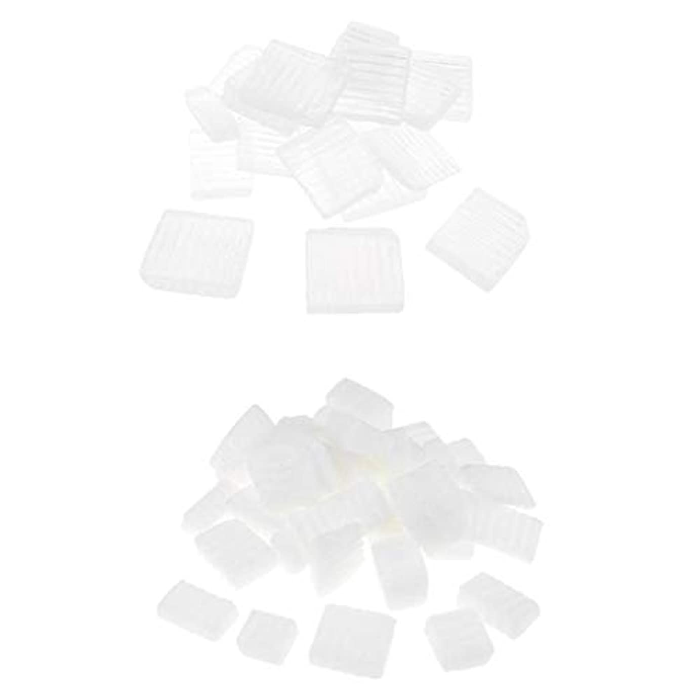 離れたまともな灰Baoblaze 固形せっけん 2KG 2種 ホワイト 透明 DIYハンドメイド ソープ原料 石鹸製造 古典的