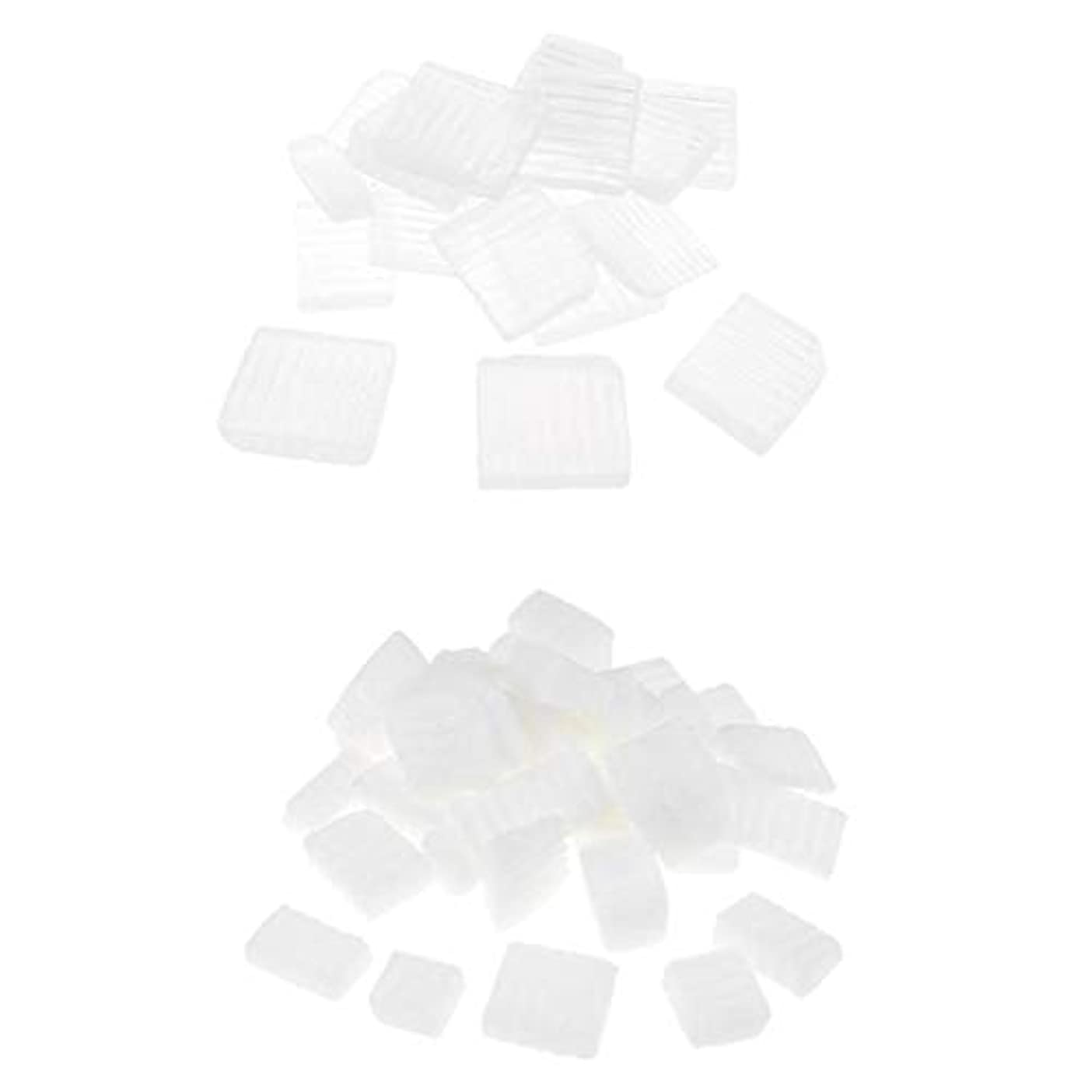Baoblaze 固形せっけん 2KG 2種 ホワイト 透明 DIYハンドメイド ソープ原料 石鹸製造 古典的