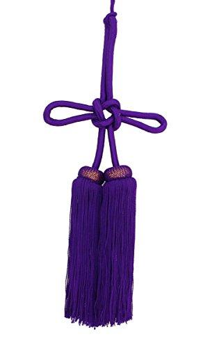撚り房 紫 6寸(約18cm)