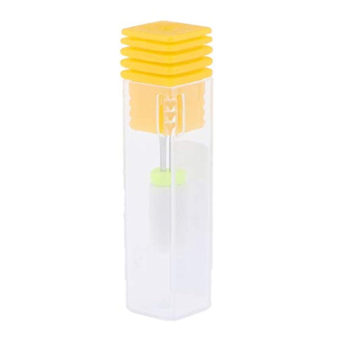運ぶ目的崇拝するInjoyo ネイルアート研削セラミックポーランドドリルビット電気マニキュア機 - 黄色超微細リッジ