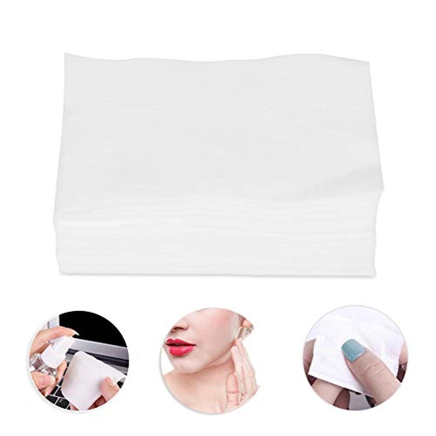 指令バケツリーズ300個の化粧コットンパッド、化粧リムーバースキンケアクリーニングワイプ用の柔らかいコットン