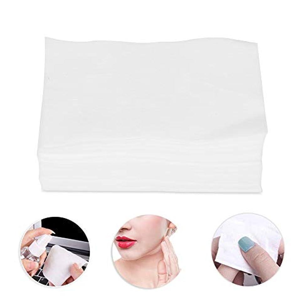 くすぐったい包帯耐えられる300個の化粧コットンパッド、化粧リムーバースキンケアクリーニングワイプ用の柔らかいコットン