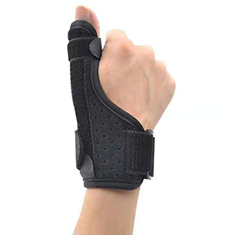 ぐるぐる写真を撮る黄ばむ腱鞘炎トリガー手根管人の女性のために修正された唯一の1個手首のサポートサムスプリント手首ブレース指アーマー親指捻挫破壊