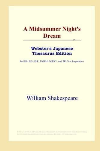 Download A Midsummer Night's Dream (Webster's Japanese Thesaurus Edition) B00125HMAS