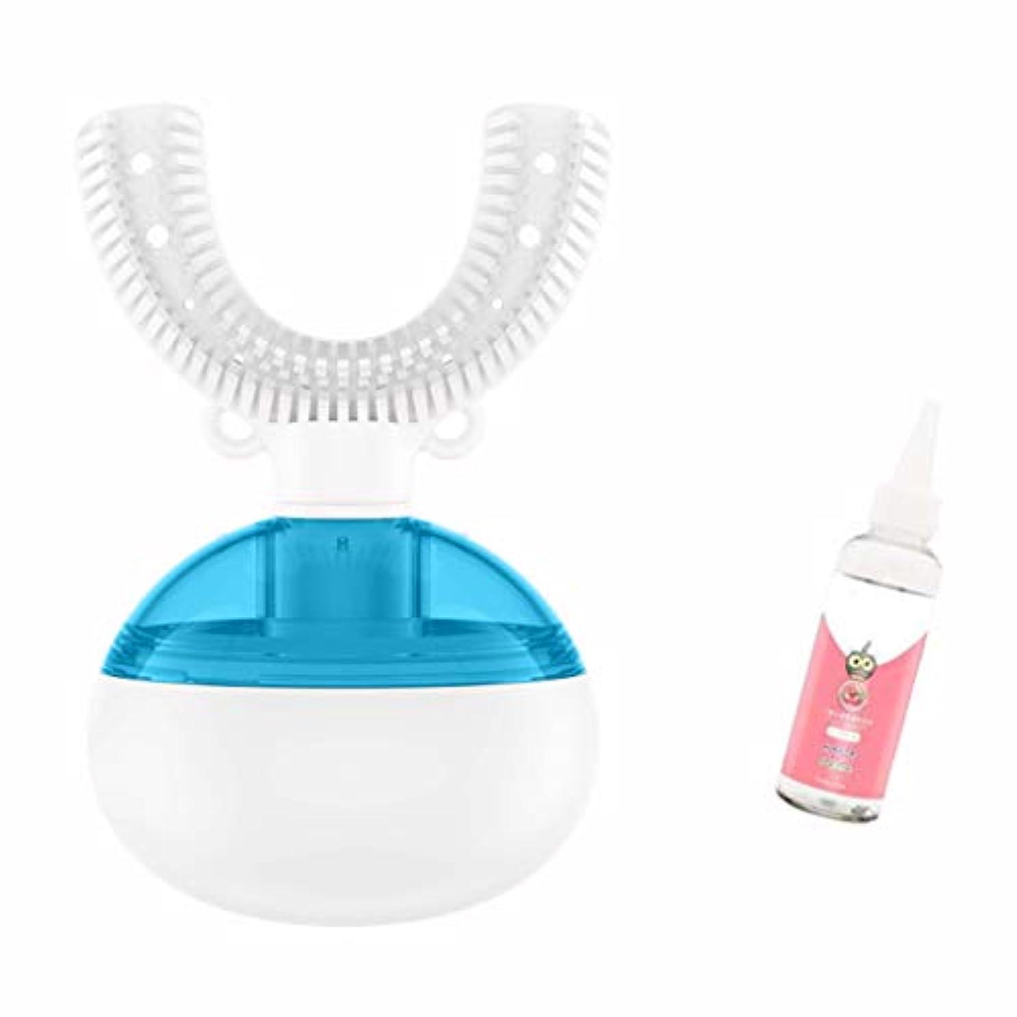 くクモ失速男性と女性のための充電式子供の電動歯ブラシ2-3-6-8歳の子供の赤ちゃんの超音波スマート歯ブラシ自動 (色 : Blue 6 years old - 10 years old)