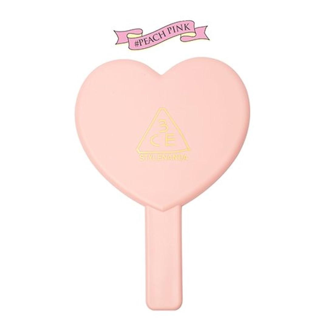 蒸発ビリーヤギ欲望3CE LOVE 3CE HEART HAND MIRROR (PEACH PINK) / ラブ3CEハート?ハンド?ミラー (ピーチピンク) [並行輸入品]