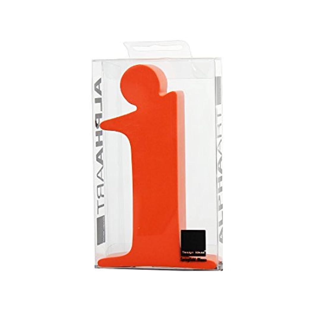 ひどい準拠部分的にカメヤマキャンドルハウス アルファベットブロック カラフル  アルファアートスモールi 「 オレンジ 」