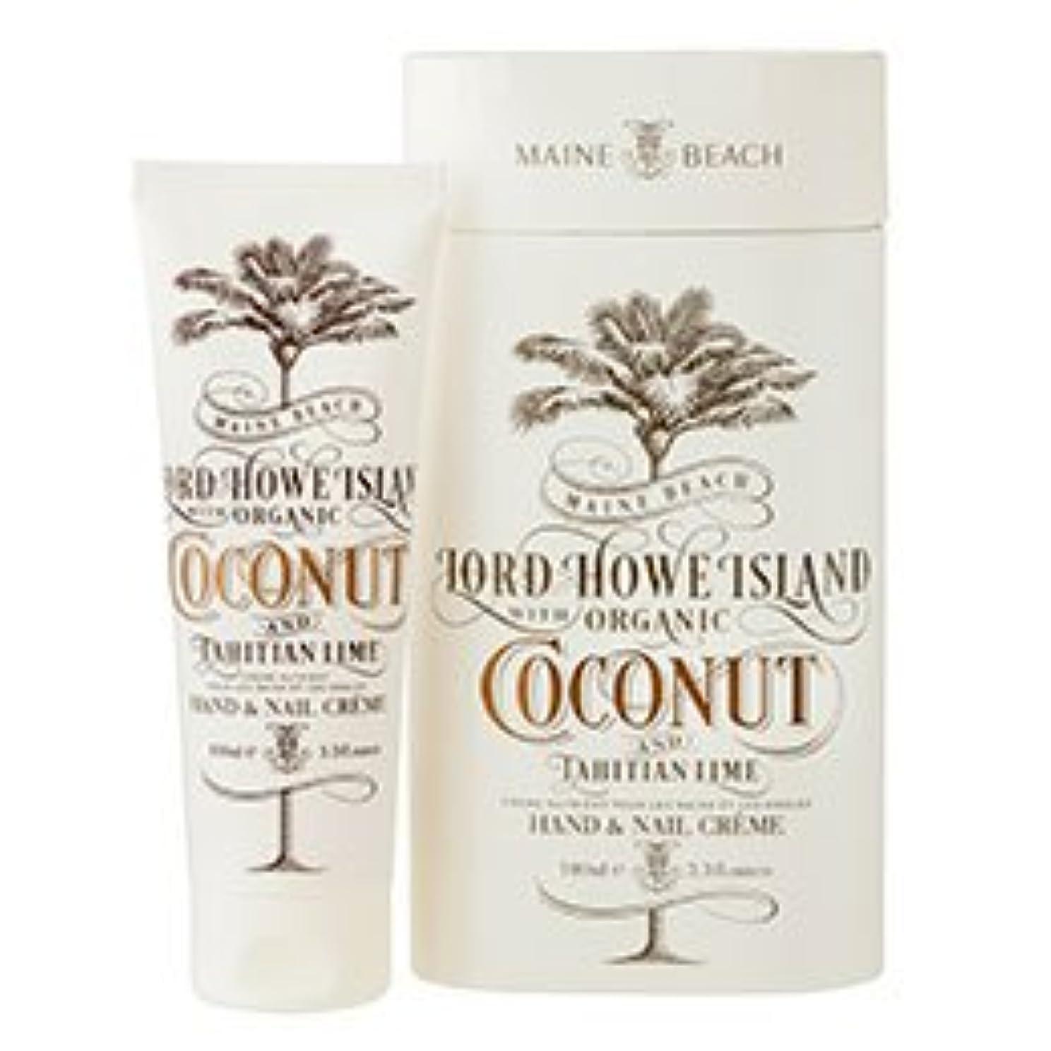 どこ問題木材MAINE BEACH マインビーチ Coconut&Lime ココナッツ&ライム Hand&Nail Cream/ハンド&ネイルクリーム 美容?コスメ?香水 ボディケア ハンドクリーム