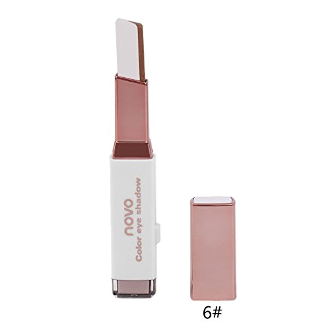 持続的売上高有益防水アイシャドウペンラスティングNOVOダブル色のアイシャドウペンのデュアルカラーの女性の女性の顔メイクツールロング
