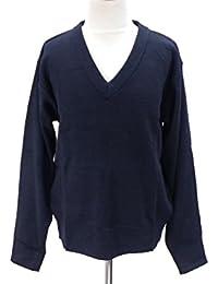 アスナロ(トップス トレーナー) スクール セーター Vネック キッズ 男女兼用120 ネイビー