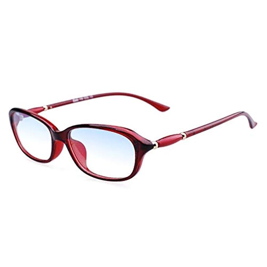 LCSHAN アンチブルーライト折りたたみ老眼鏡ポータブルウルトラライトHD TR 90抗疲労+2.0 (Color : Red, Size : 300 degrees)