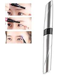 リップスティックアイブロウトリマー、多機能ポータブル電気女性の顔トリマー(ピンク、レッド、シルバー),銀