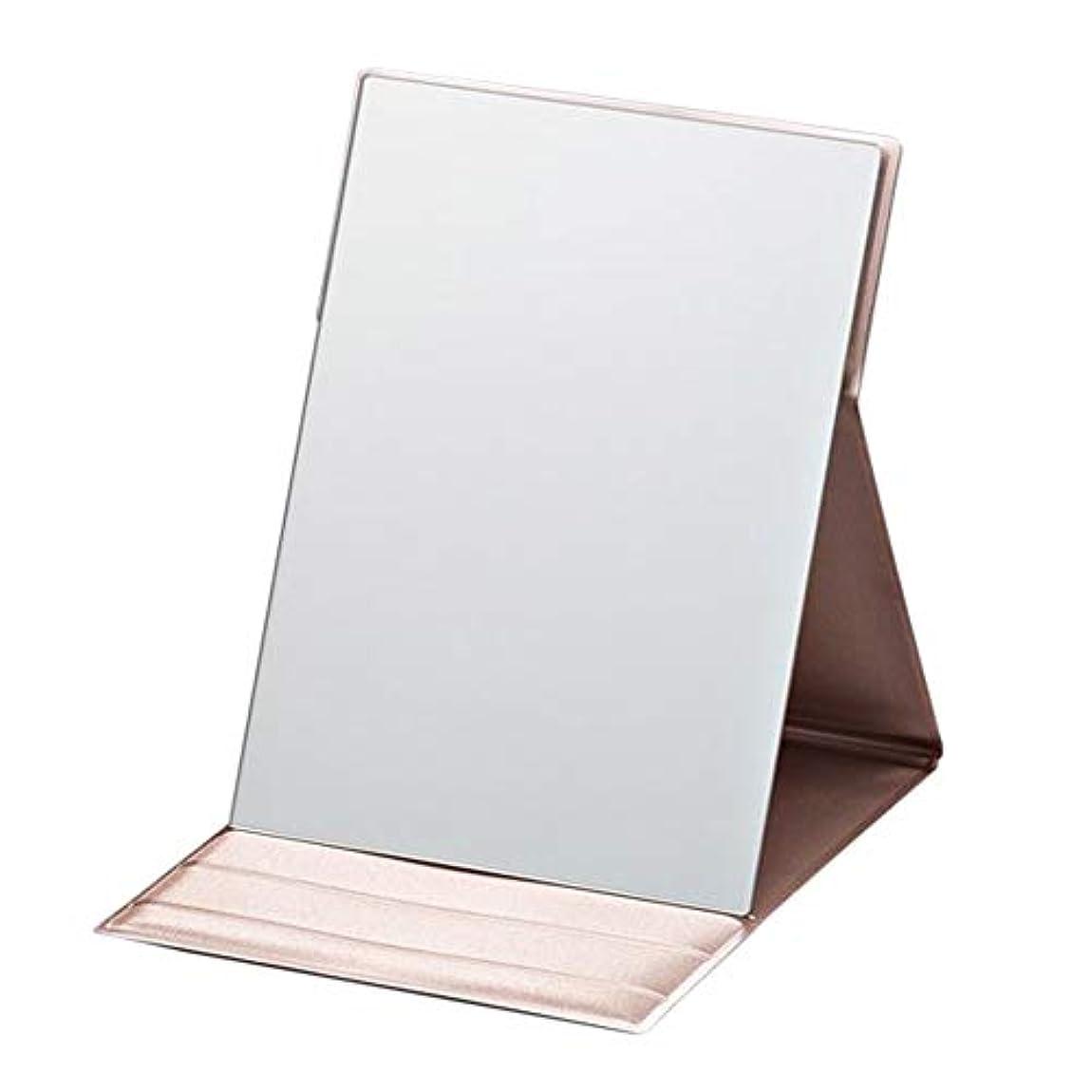 を通してトラブル生き物プロモデル折立 M ピンクゴールド 折り畳み式化粧鏡