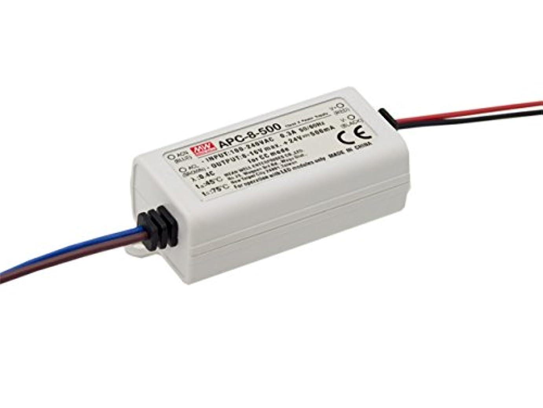モチーフアニメーション泣き叫ぶMEANWELL LEDのスイッチ電源(定電流)APC-8-500 8W 8-16V 500mA