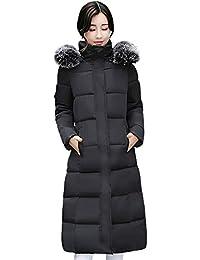 【HAFOS(ハフォス)】コート ダウンコート レディース 厚手コート シンプル 冬 アウター 軽量 ロングコート ダウンジャケット ライトダウン 着痩せ 中綿 フード付き 3色