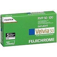 Fujifilm Fujichrome Velvia 50色スライドフィルムISO 50、120mm、5ロールProパック