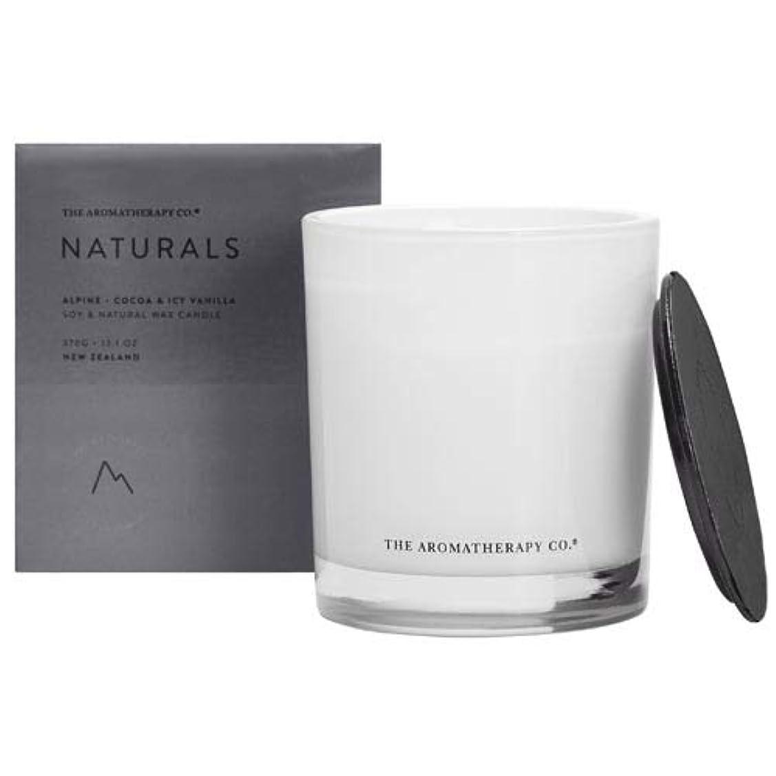 叫ぶ危険を冒しますモーションアロマセラピーカンパニー(Aromatherapy Company) new NATURALS ナチュラルズ Candle キャンドル Alpine アルパイン(山) Cocoa & Icy Vanilla ココア&アイシーバニラ