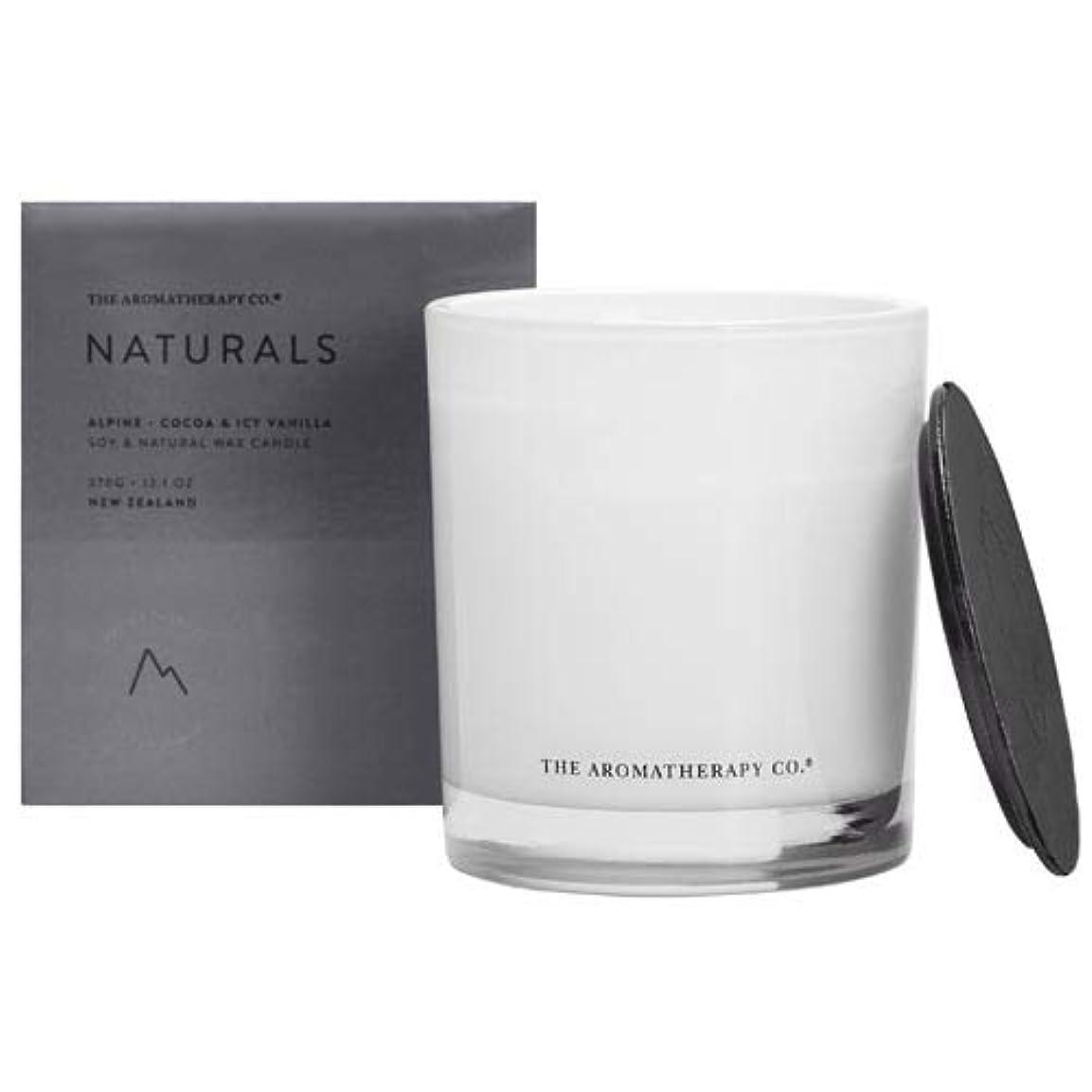 首相自信がある相対性理論アロマセラピーカンパニー(Aromatherapy Company) new NATURALS ナチュラルズ Candle キャンドル Alpine アルパイン(山) Cocoa & Icy Vanilla ココア&アイシーバニラ