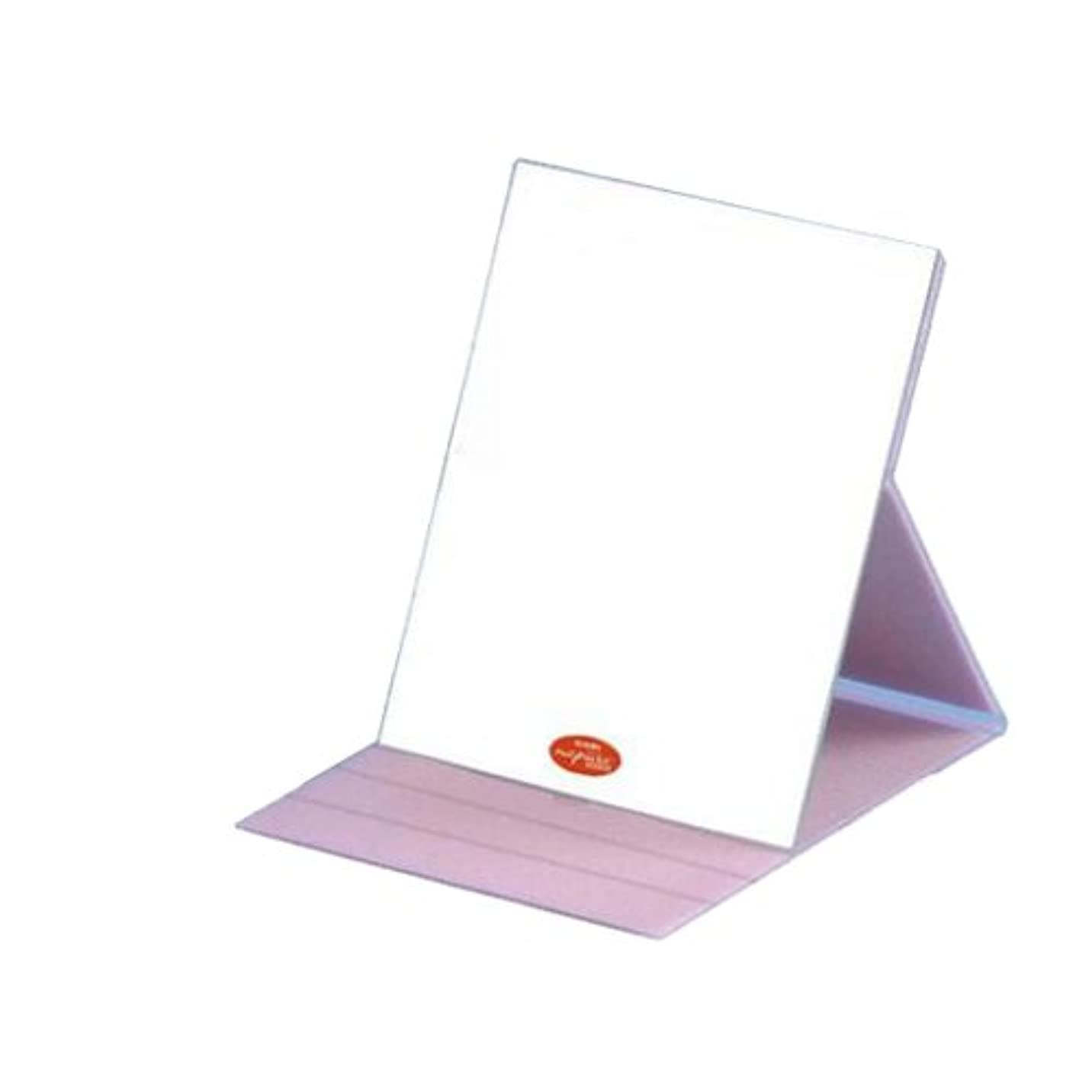 完璧な驚くばかり未払いHP-61 ナピュア プロモデル角度調整3段階付き折立ミラー エコ?ピンク(L)