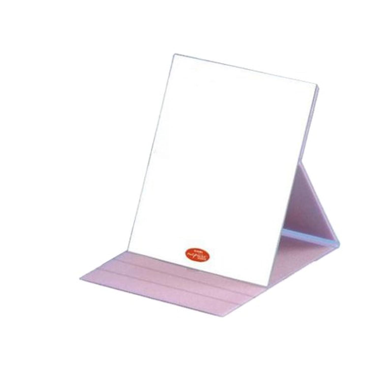オリエンテーション国自分を引き上げるHP-61 ナピュア プロモデル角度調整3段階付き折立ミラー エコ?ピンク(L)