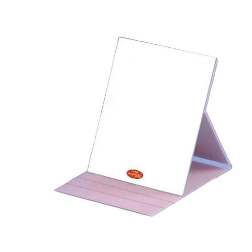 用心月面すごいHP-61 ナピュア プロモデル角度調整3段階付き折立ミラー エコ?ピンク(L)