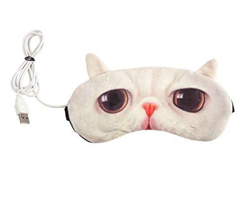 ZMAYA STAR USB蒸気アイマスク最適快眠グッズ スリープエイド/旅行/交代勤務の休息に洗える 熟睡 仕事 ドライアイ デスク 全9色(カラー:ランダム)